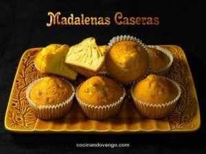 Magdalenas caseras, esponjosas y fáciles