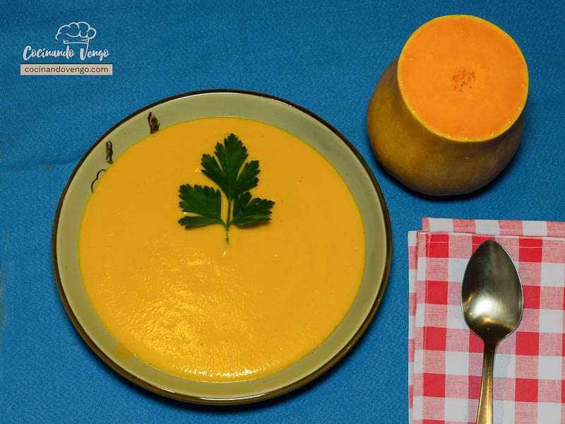 Crema de calabaza, zanahoria y queso